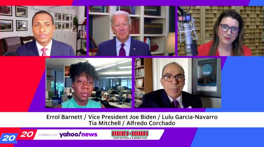 Biden Talks to NABJ and NAHJ