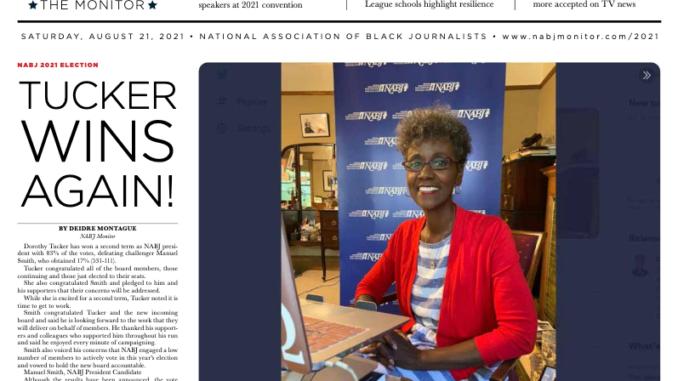 Screenshot of the NABJ Monitor 2021 Flipbook